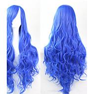 cosplay blu moda must-have parrucca di capelli ragazza di alta qualità capelli ricci