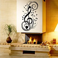 Hudba Módní Tvary Samolepky na zeď Samolepky na stěnu Ozdobné samolepky na zeď Materiál Snímatelné Home dekorace Lepicí obraz na stěnu
