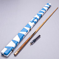 one piece Jointed Handmade ash snooker/Pool Cue LP  inlay with shells billiard cue+Cue Case