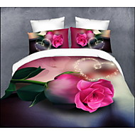 Bettbezug-Sets , Rose