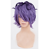 Angelaicos Men IB Garry Short Curly Mixed Purple Layered Cool Boy Lolita Harajuku Halloween Costume Cosplay Party Wig