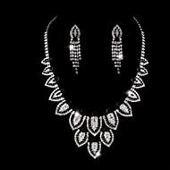 Ladies' Water Drops Rhinestone Wedding Jewelry Set