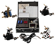 Professional Tattoo Machine Kits With 4 Steel Tattoo Machines Guns