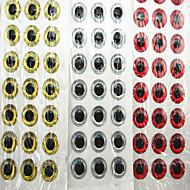 500 pcs Isco Suave / Amostras moles Prateado / Vermelho / Tigre Dourado 0.06 g Onça mm polegada,PE Pesca de Mar