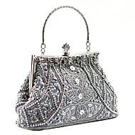 Abend Handtaschen/Schultertaschen ( Schwarz/Grau/Purpur/Silber/Gold/Champagner/Rot , Crystal / Strass/Blumenrosette ) - aus