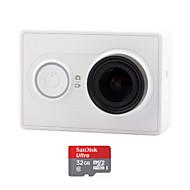 Xiaomi Xiaoyi 1080p 16MP CMOS sport kamera videokamera / Wi-Fi / bluetooth 4,0 - hvid (32gb tf)