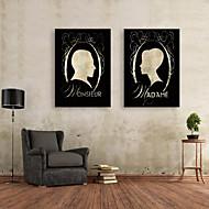 e-Home® sträckta canvas konstprofilbild dekorativt måleri uppsättning av 2
