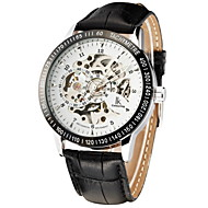 Men's Avtive Fashion Hollow Out The PU Leather Mechanical The Watches (Assorted Colors)