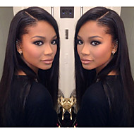 20inch 100% Unprocessed Virgin Brazilian Human Hair Full Lace Wig Silky Straight Natural Black Color Wigs,Free Shipping