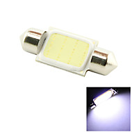 36mm 3W COB LED 200lm 6000K Cold White Light Dome Festoon Reading Bulb Lamp for Car (DC 12V)
