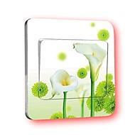 스위치 벽 스티커 벽 데칼, 칼라 꽃 창조적 인 PVC 스위치 스티커