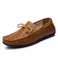 Egyéb-Lapos-Női cipő-Vitorlás cipők-Irodai Party és Estélyi Alkalmi-Bőr-Fekete Barna Katonazöld