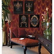 e-HOME lona envuelta arte fijado bronce pintura decorativa europea de 3