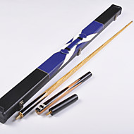 3/4 Jointed Hand selected North American Ash shaft snooker/billiard LP cue+cue case