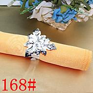 6pcs anneau feuilles de serviette