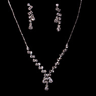Women's/Ladies' Alloy Wedding/Party Jewelry Set With Rhinestone