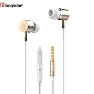 langsdom i-7 dinámica de metal cerró de nuevo bajo profundo responed en la oreja del auricular de 3.5mm para el iphone 6/6 más / otros