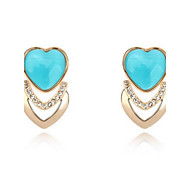 Women's Alloy Stud Earrings With Opal (More Color)