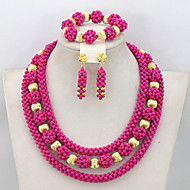 Classic African Beads Jewelry Set Wedding Nigerian Beads Necklace Set 2015 Fashion