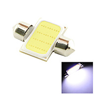 31mm 3W COB LED 200lm 6000K Cold White Light Dome Festoon Reading Bulb Lamp for Car (DC 12V)