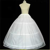 Комбинации ( Тюль , Белый ) - 2 - Комбинация трапецией/Комбинации с пышной юбкой/С длинным шлейфом - 96cm