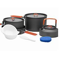 調理器具高折りたたみハンドルの火 - メープル本物の饗宴4つの屋外ピクニック4-5セット