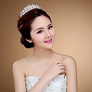 왕관 여성 웨딩 라인석 투구 웨딩 1개