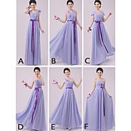 mélanger& robes de match-parole longueur chiffon robes de demoiselle d'honneur 5 modèles (2840141)