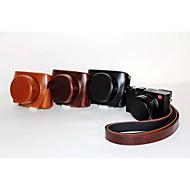 dengpin pu olio pelle di cuoio del sacchetto di caso della copertura della fotocamera staccabile per LEICA D-LUX tip 109 (colori