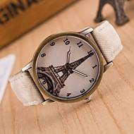 European Style Fashion Denim Retro Eiffel Tower Casual Wrist Watch Cool Watches Unique Watches Strap Watch