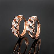 partito di prezzi all'ingrosso / oro casuale placcato gli orecchini a cerchio gioielleria di alta qualità