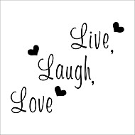 Live Laugh Love Family Wall Decals Zooyoo8176 Decorative Wall Decor Removable Vinyl Wall Stickers Home Decoration