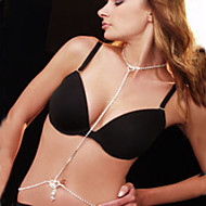 Dámské Tělové ozdoby Kovový pás Tělo Chain / Belly Chain Štras imitace Diamond Jedinečný design Módní Pro nevěstu Sexy Šperky Bílá Šperky