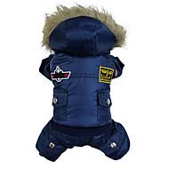 Hunde Mäntel / Kapuzenshirts / Overall Rot / Blau / Braun Hundekleidung Winter Polizei / Militär Modisch / warm halten