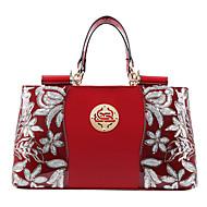 Women PU / Patent Leather Doctor Shoulder Bag / Tote - Blue / Red / Black