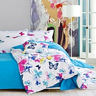 Yuxin®Cotton Twill Printed A Family of Four Cotton Bedding Suite   Full/ Queen/King  Size