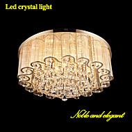 Modern Noble LED Crystal Light Living Room LED Absorb Dome Light Diameter 60CM Contains 6 LED Bulbs