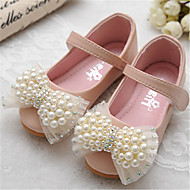 Girls' Shoes Outdoor/Dress Peep Toe Faux Leather Flats Blue/Pink/Beige