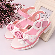 Girls' Shoes Outdoor/Dress/Casual Peep Toe/Comfort  Sandals Blue/Pink/Red