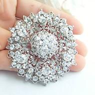 Wedding Accessories Silver-tone Clear Rhinestone Crystal Bridal Brooch Wedding Deco Bridal Bouquet Wedding Jewelry