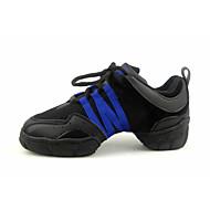 Na zakázku Pánské Taneční boty Taneční tenisky/Moderní Plátno Bez podpatku Černá