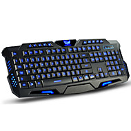 usb dushifangyuan com fio 114-key levou backlit teclado para jogos estilo programável luminosa