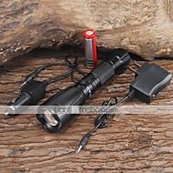 LED Lommelygter / Lommelykter LED 5 Modus 2200/1000 Lumens Justerbart Fokus / Vandtæt / Oppladbar Cree XM-L T6 18650