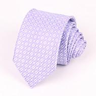 עניבות - משובץ (סגול בהיר , משי)