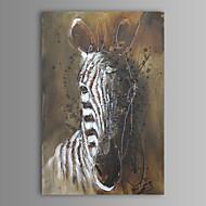 peinture à l'huile moderne main zèbre abstraite toile avec cadre étiré peint