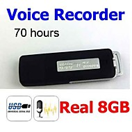 ur08 8GB (100% ægte 8g) usb pen flashdrev disk digital audio voice recorder genopladelige