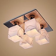 40W Flush Mount ,  Modern/Contemporary Chrome Feature for Mini Style Glass Bedroom / Dining Room / Study Room/Office