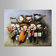 pittura ad olio da letto mano i bambini dei cartoni animati astratta tela dipinta con allungata incorniciata