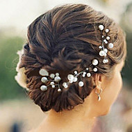 Headpieces Nice Pearls Wedding/Party Hairpins (set of 6)