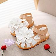 Girls' Shoes Casual Peep Toe/Comfort Sandals Pink/Purple/White/Fuchsia